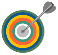 Graphic of a target with an arrow in center