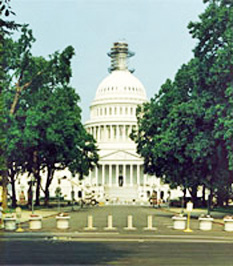 U.S. Capitol Building security upgrades-bollards activated when required