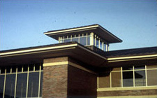 Roof detail of the Rushmore Center at Ellsworth AFB