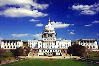 Character-defining elements of the U.S. Capitol include: symmetrical massing, the prominent dome, and extensive grounds