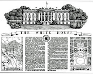 Archival documentation of the White House