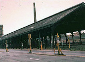 Photo of train shed before its conversion