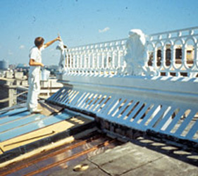 Ongoing maintenance at the Eisenhower Executive Office Building, Washington DC