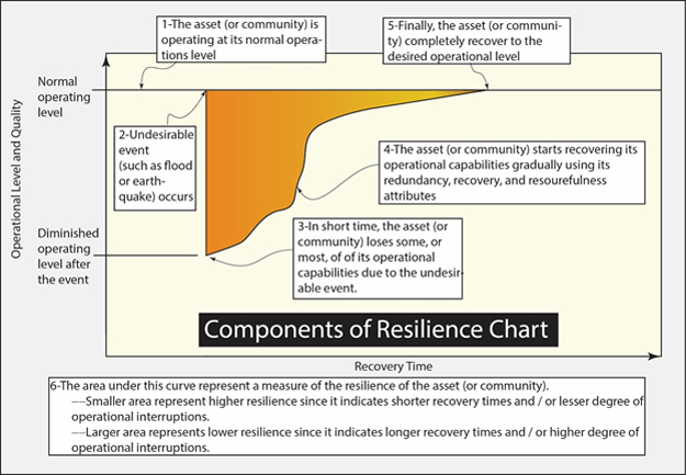 Components of resilience chart