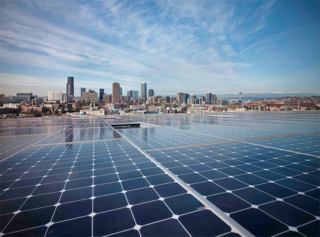 Bullitt Center roof-top photovoltaic array