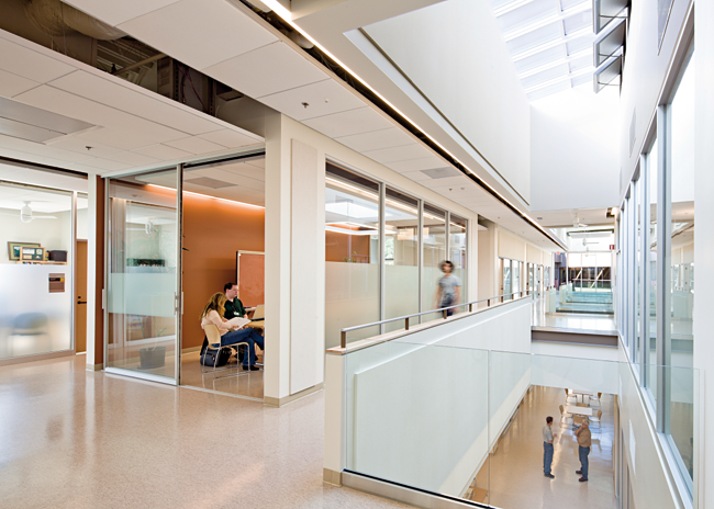Chemeketa Community College Health Sciences Complex, skylights and open layout