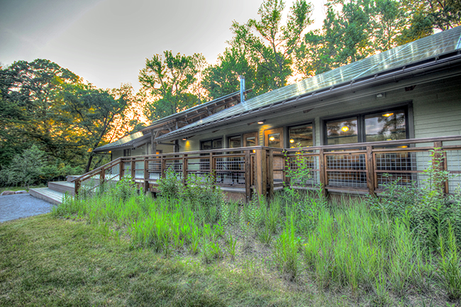 Exterior of the Morris & Gwendolyn Cafritz Foundation Environmental Education Center