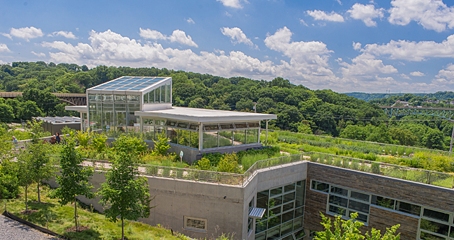 the Center for Sustainable Landscapes's green roof, Pittsburgh, PA
