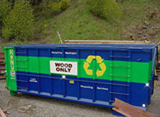 recycling receptacle for wood only