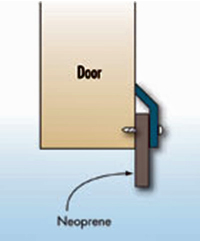 Illustration of a neoprene door bottom sweep