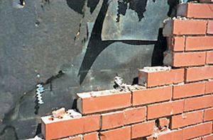 Failure of brick veneer