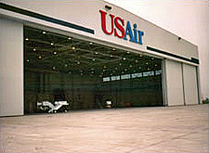 412-ft Clear Span Maintenance Hangar for US Airways in Indianapolis, Indiana