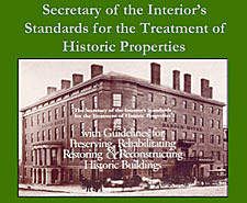 Graphic that reads Secretary of the Interior's Standards for the Treatment of Historic Properties.