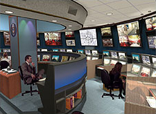 Concept of a Security Command Center that integrates multiple technologies seamlessly into one facility