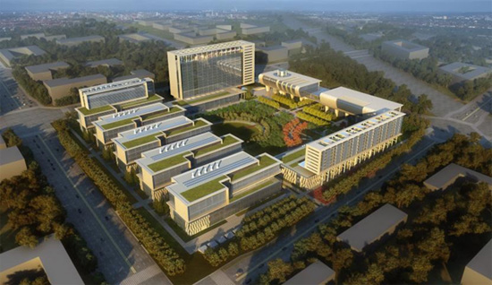 Rendering of the completed HuaNeng Research Campus being built in Beijing, China
