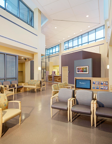 Mercy North emergency department lobby
