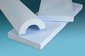 Illustration of molded expanded perlite insulation