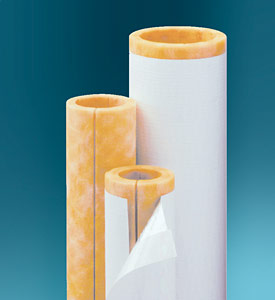 Illustration of fiberglass pipe insulation