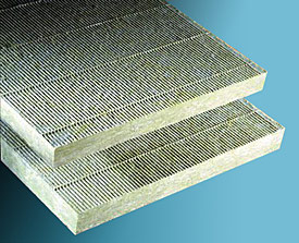 Illustration of mineral fiber block and board insulation