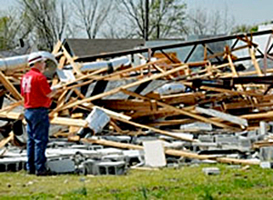 FEMA News Photo: Tornado Damage Mena, Arkansas