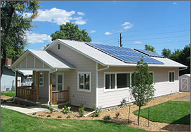 Completed NREL/Habitat Zero Energy Home