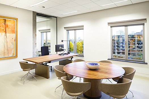 modern office with natural daylighting and views