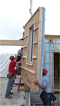 prefabricated closed panel wall assembly for housing