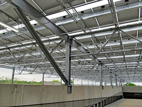 The Bergen County Solar Parking Garage Canopy solar powered parking facility