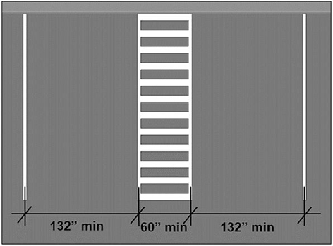 Illustration of the dimensions of a van parking space