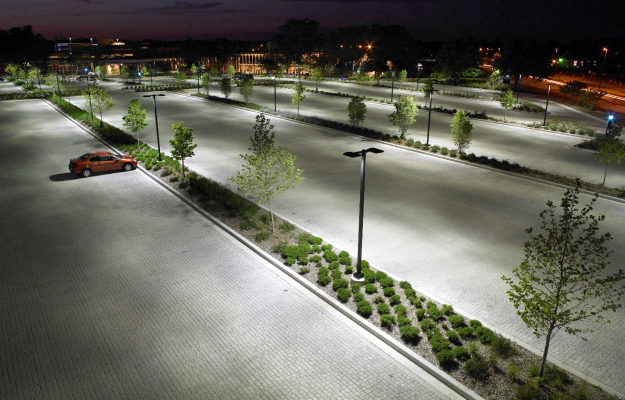surface parking lot at Johnson Controls Incorporated (JCI) in Glendale, Wisconsin