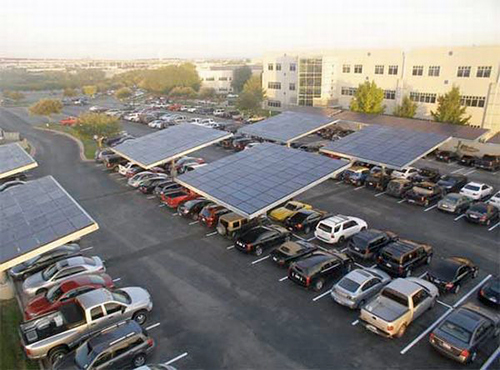parking lot at Dell Inc.'s headquarters in Round Rock, Texas