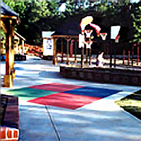 Playground open area Transition Zone