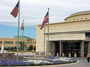 Exterior of the George Bush Presidential Library and Museum