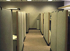 Example of beige cubicle environment