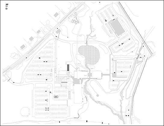 Site plan of Saint Gobain CertainTeed North American Headquarters