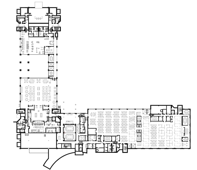 Saint Gobain CertainTeed North American Headquarters First Floor Plan