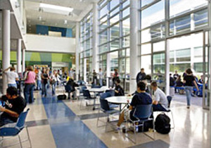 High school addition/renovation with sustainable features in a multi-use student commons area
