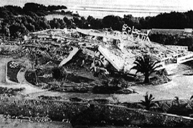 Photo of Saada Hotel after being destroyed by an earthquake-ground shaking damage-Agadir, Morocco, 1960
