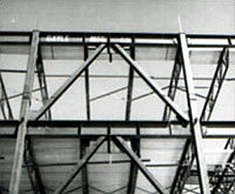 Example of concentric braced frame