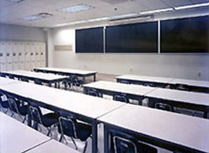 Windowless classroom for security purposes at the Naval Nuclear Power Training Center