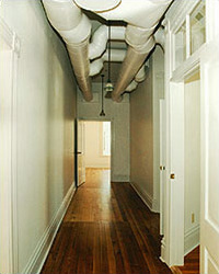 Photo of ductwork retrofit