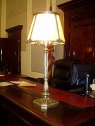 Replica of a judge's lamp