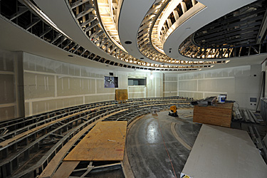 auditorium under construction