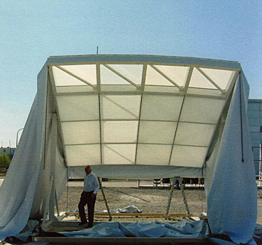 roof performance mock-up for Institute of Peace constructed at Seele headquarters, Germany