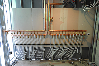 radiant heat and cooling connection