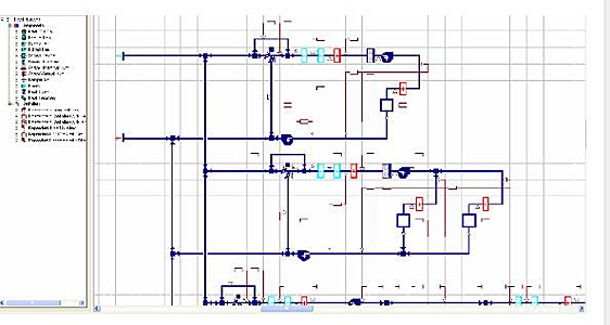 HVAC system modeling for the VAV unit with heat pipe, Institue of Peace, Washington DC