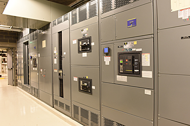 main switch gear in electrical room