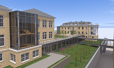 Rendering of Building 7 expansion and renovations, Institute of Peace, Washington DC