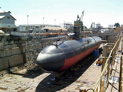 Submarine in Dry Dock